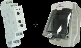Hladinový spínač HRH-5 + skříň s krytím IP65 a vývodek